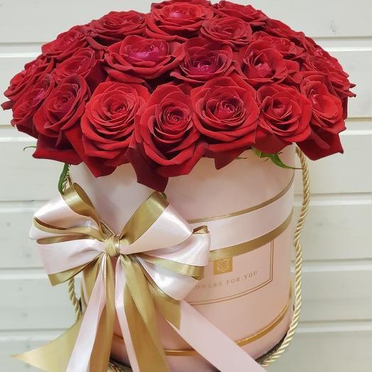 Корбка шляпная N 3: букеты цветов на заказ Flowwow