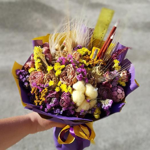 Золотые поля: букеты цветов на заказ Flowwow