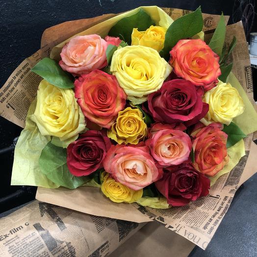 Букет из роз Париж подождёт: букеты цветов на заказ Flowwow