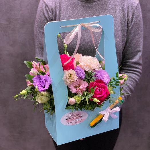 Композиция сумочка на 1 сентября: букеты цветов на заказ Flowwow