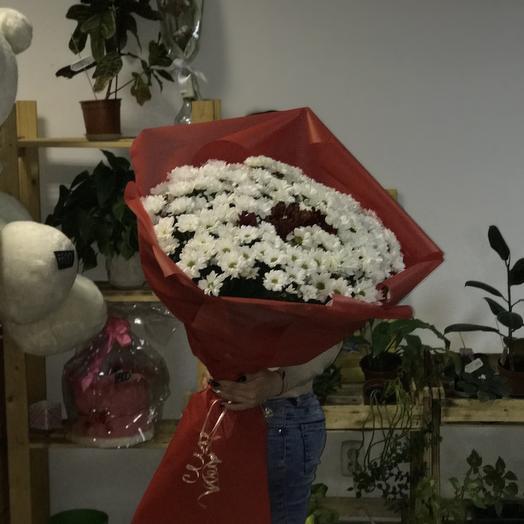 Букет гигант из хризантем: букеты цветов на заказ Flowwow