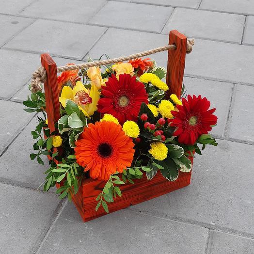 Ящик изобилия: букеты цветов на заказ Flowwow