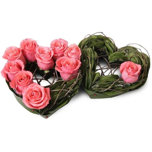 "Композиция из роз ""Я люблю тебя"": букеты цветов на заказ Flowwow"