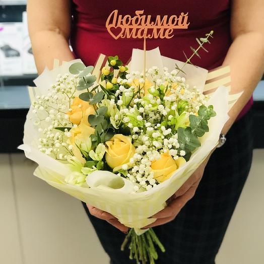 Любимой маме 1: букеты цветов на заказ Flowwow