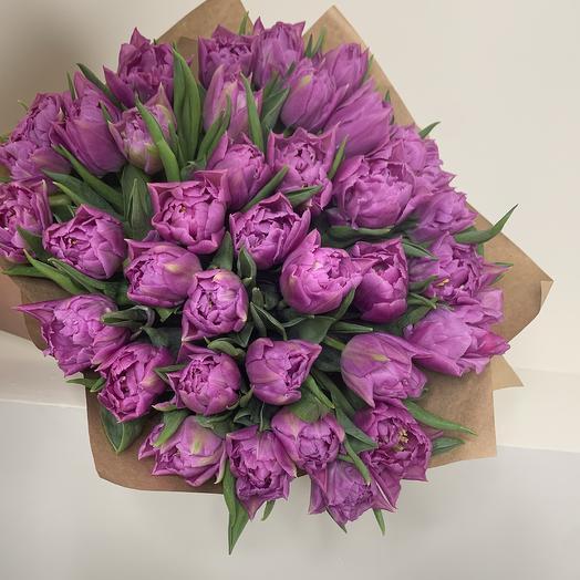 Монобукет из пионовидных Тюльпанов: букеты цветов на заказ Flowwow