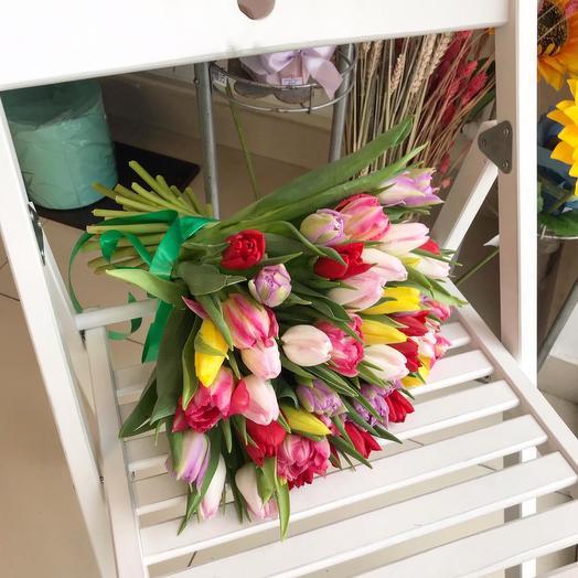 Тюльпановый микс: букеты цветов на заказ Flowwow