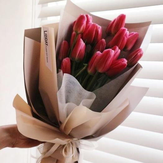 Розовый дабл: букеты цветов на заказ Flowwow