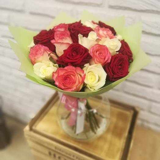 """""""НК"""" 25 кенийских роз микс"""