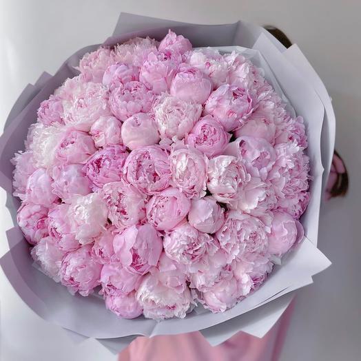 Вау букет пионов: букеты цветов на заказ Flowwow