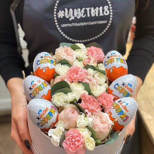 Композиция   Киндеры и цветы