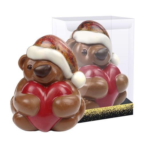 Шоколадная фигурка «Мишка с сердцем», 200 г