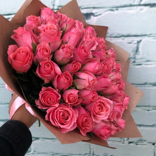 Букет из кенийской розы (цвета микс)