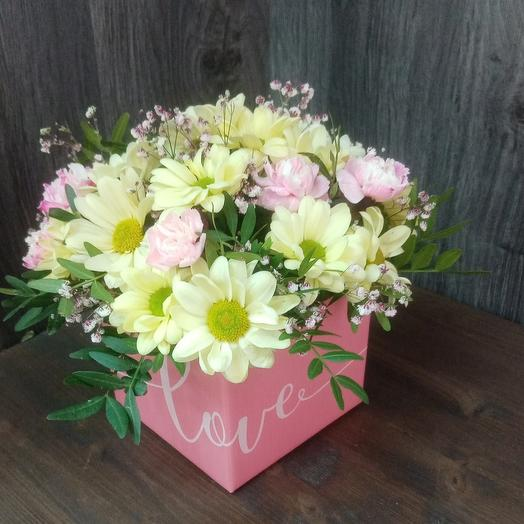 Box with flowers