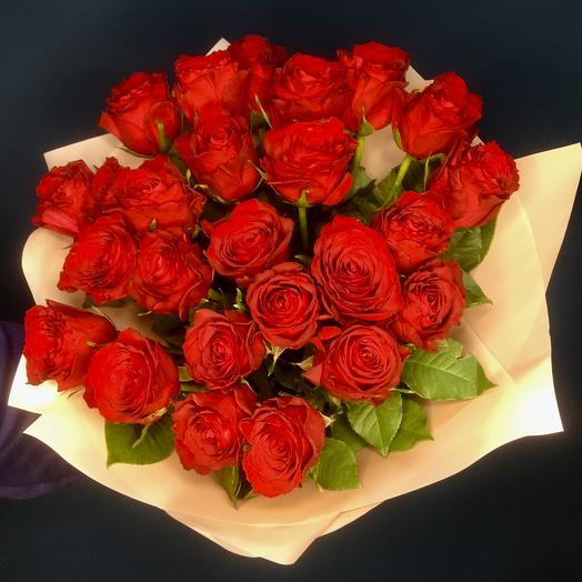 Букет из 25 алой розы
