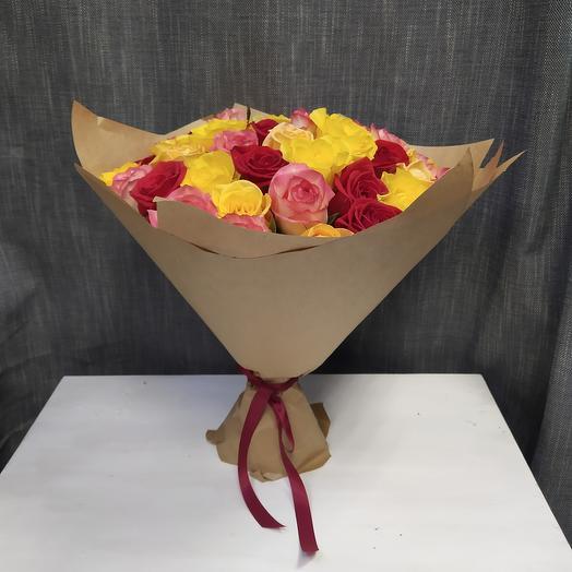 Букет из 55 розы (микс)