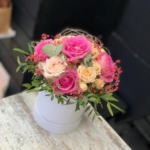 Цветы в коробке глянец