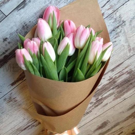 15 нежных тюльпана