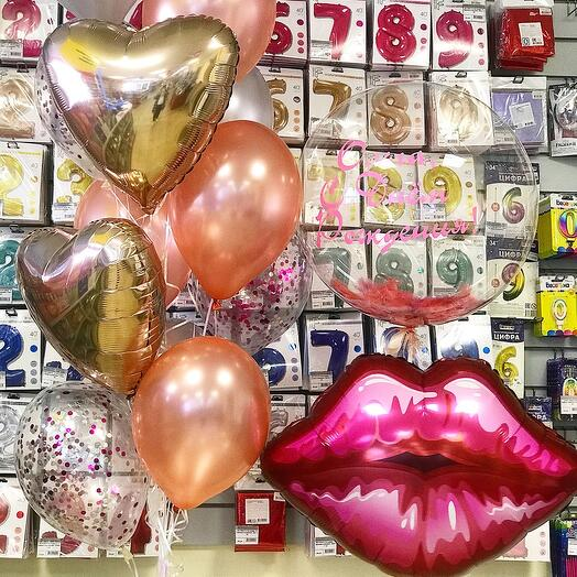 Набор шаров «Нежный поцелуй»
