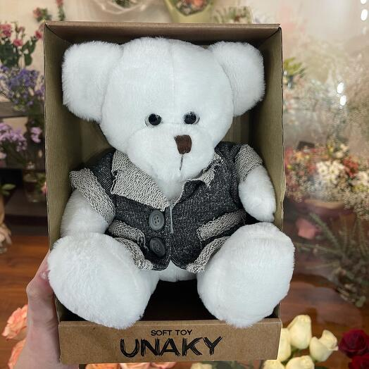 Мягкая игрушка «Белый медведь в пиджаке»