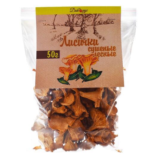 Сушеные лисички грибы (высший сорт) 50 гр