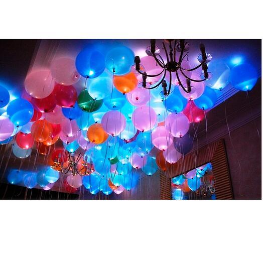 Облако из светящихся шаров