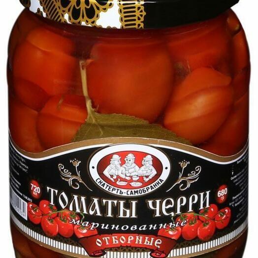 Мини-томаты Скатерть-самобранка маринованные отборные 720 мл