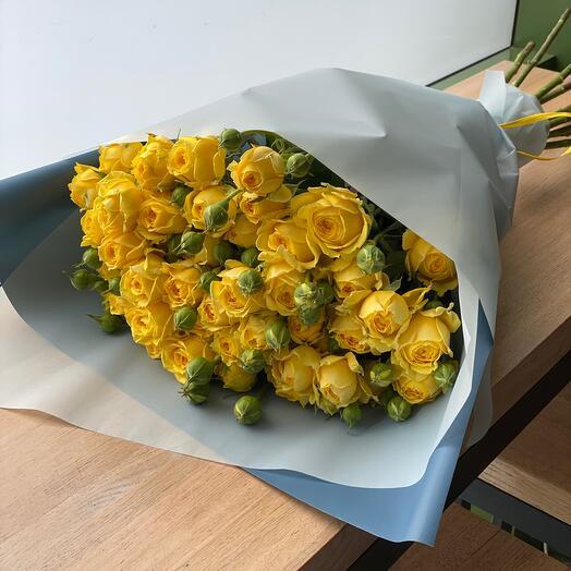 Елоу Баблз пионовидная роза