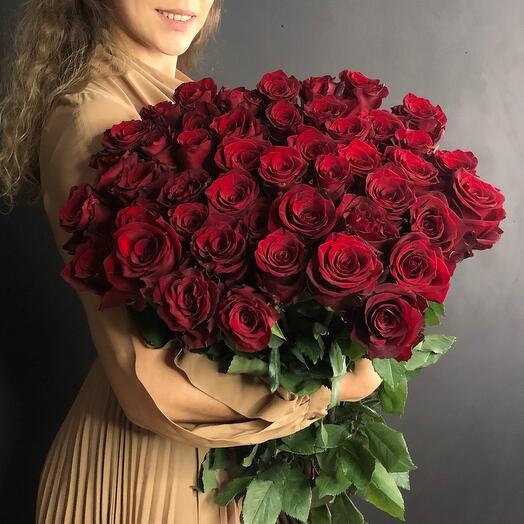 51 роза 100 сантиметров