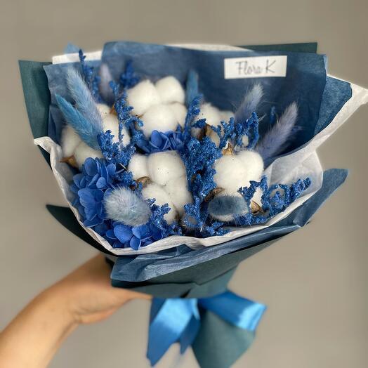 Букет Синяя гортензия