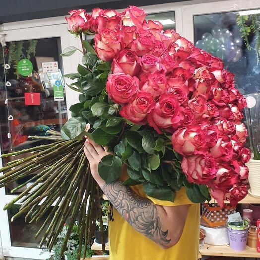 101 роза IGUAZU 70 cм
