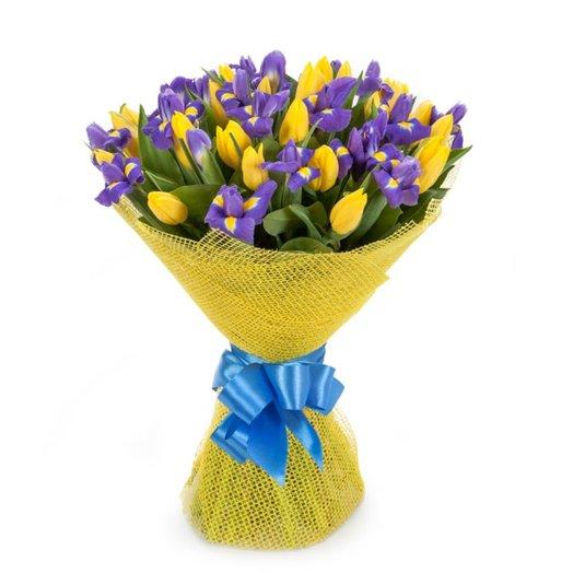 Тюльпаны и Ирисы: букеты цветов на заказ Flowwow