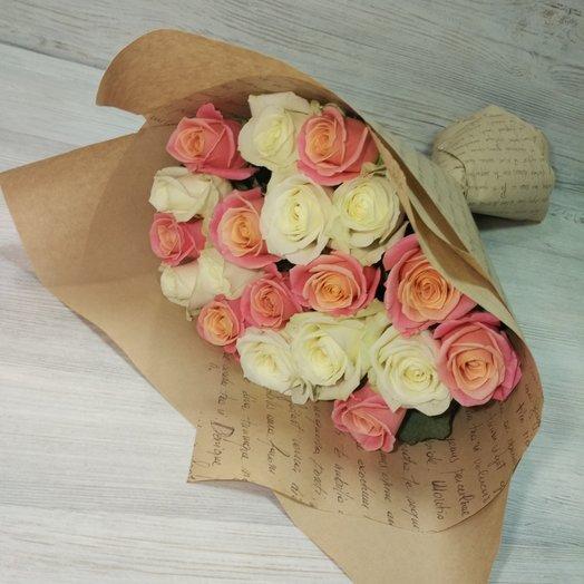 Микс розы: букеты цветов на заказ Flowwow