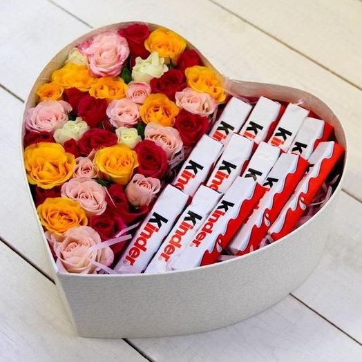 Сладкое сердце: букеты цветов на заказ Flowwow