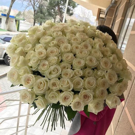 Голландские Розы 99 шт: букеты цветов на заказ Flowwow
