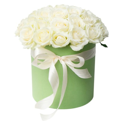 """Box """"Bride"""" of the 35 white roses. Code 180098: flowers to order Flowwow"""