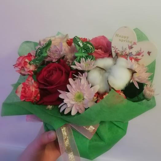 Счастливая весна: букеты цветов на заказ Flowwow