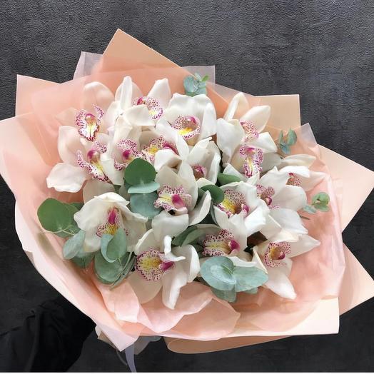 Белоснежные Орхидеи: букеты цветов на заказ Flowwow