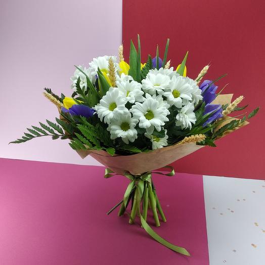 С хризантемой 3: букеты цветов на заказ Flowwow