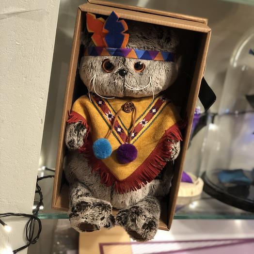 Басик в костюме индейца: букеты цветов на заказ Flowwow