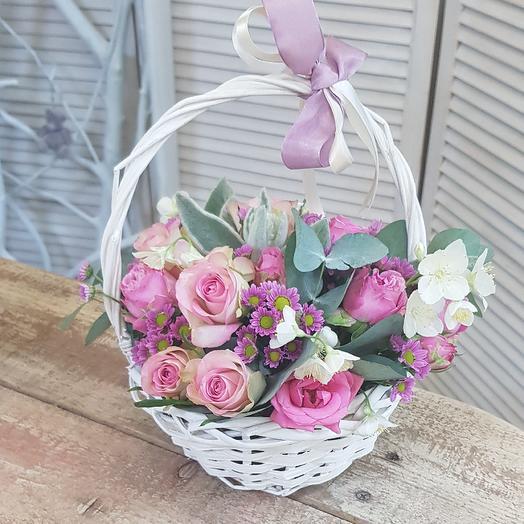 Лукошко нежности: букеты цветов на заказ Flowwow