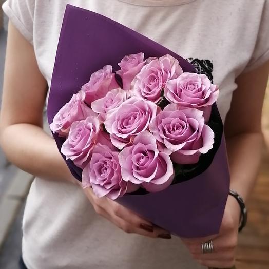 Букет из 11 лавандовый роз