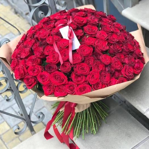 101 роза. Букет 91: букеты цветов на заказ Flowwow