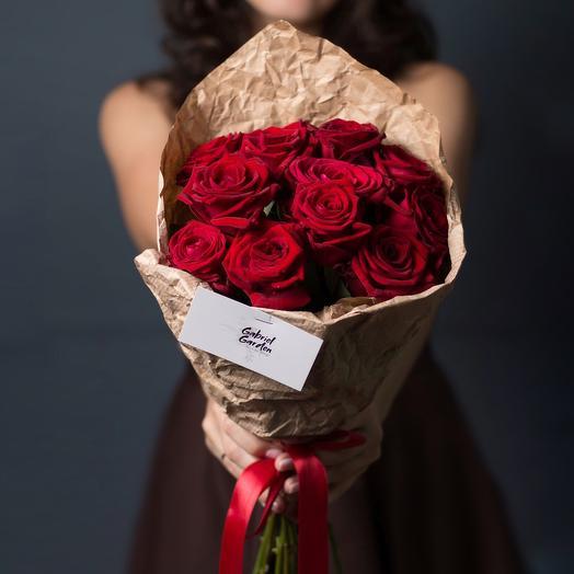 Алый моно: букеты цветов на заказ Flowwow