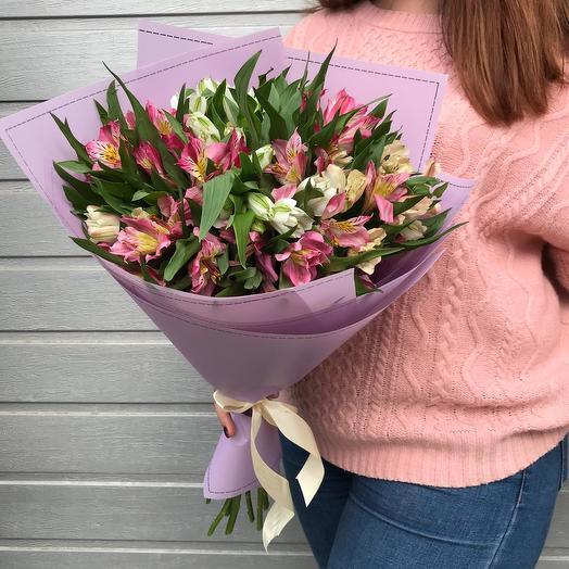 """Букет из Альстромерий """"Преподавателю"""": букеты цветов на заказ Flowwow"""