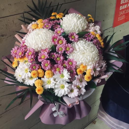 Букет «Цветение Хризантемы»: букеты цветов на заказ Flowwow