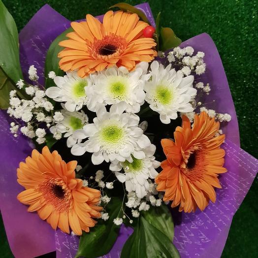 """Букет """" Оранжевые хризантемы"""": букеты цветов на заказ Flowwow"""