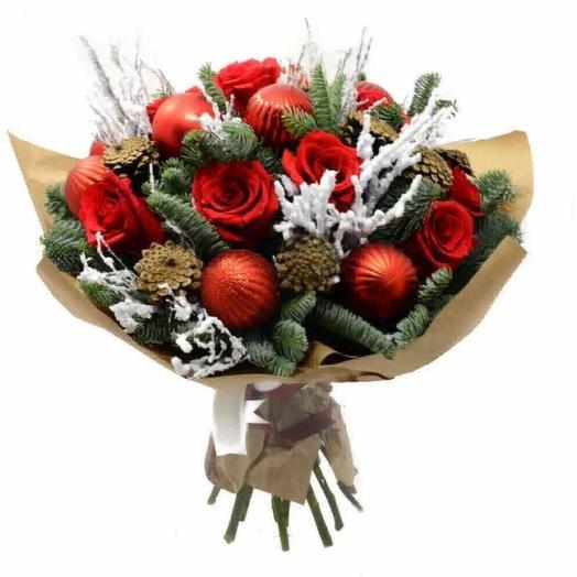 Рождественская круговерть: букеты цветов на заказ Flowwow