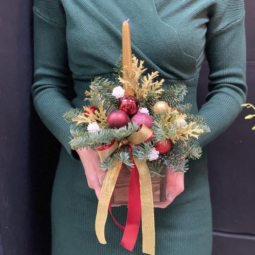 Новогодняя композиция «дед мороз»: букеты цветов на заказ Flowwow
