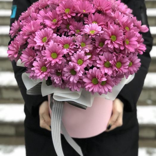 Коробка Энна из розовых хризантем