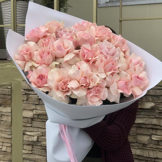 Нежные розы для любимой: букеты цветов на заказ Flowwow